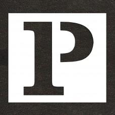"""24"""" Parking Letter """"P"""" Stencil"""