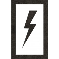 "24"" Lightening Bolt - Electric Car Parking Stencil"