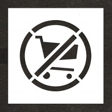 "24"" No shopping Carts Symbol Stencil"