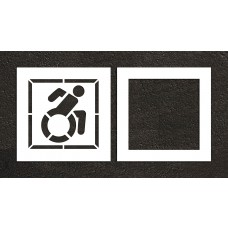 "24"" NY Accessible ADA Stencil, 2-part"