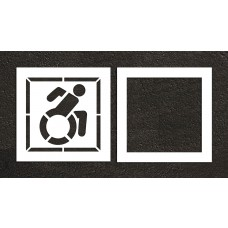 "30"" NY Accessible ADA Stencil, 2-part"