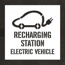 "30"" Recharging Station, Electric Vehicle with Graphic Stencil"