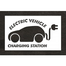 "36"" Electric Car Charging Station Stencil"