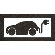 "36"" Electric Car Charging Station no text Stencil"