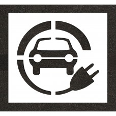 "36"" Electric Vehicle Charging Station Car w/ Plug Stencil"