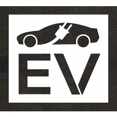 "36"" Electric Vehicle Charging Station Electric Vehicle Car w/ Plug Stencil"
