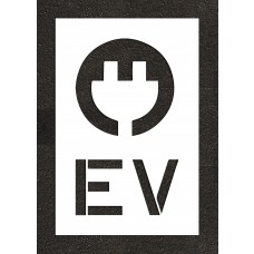 "36"" Electric Vehicle Charging Station Electric Vehicle with Plug Stencil"