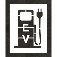 "36"" Electric Vehicle Charging Station Plug Stencil"