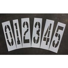 """Pavement Stencils - 36 inch NUMBER KIT STENCIL SET - (12 Piece) - 36"""" x 9"""""""