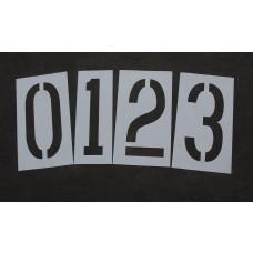 """Pavement Stencils - 36 inch Wide NUMBER KIT STENCIL SET - (12 Piece) - 36"""" x 16"""""""
