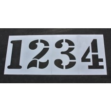 "Athletic Marking - 36 inch - TRACK and FIELD NUMBER Stencils - (8 Piece) - 36"" x 24"""