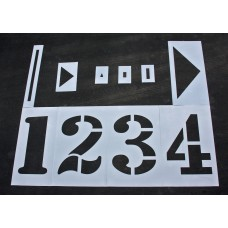 "Athletic Marking - 36 inch - TRACK and FIELD Complete Stencil Set - (16 Piece) - 36"" x 24"""