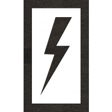 "36"" Lightening Bolt - Electric Car Parking Stencil"