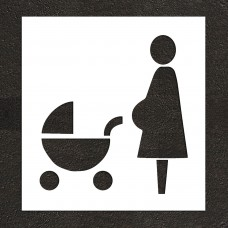 "36"" Reserved Expectant Mothers Symbol Stencil"