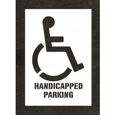 "38"" Handicap Parking Handicap Stencil"