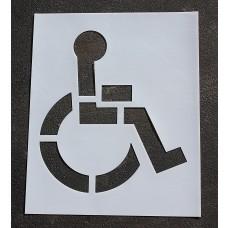 """Pavement Stencils - 39 in - HANDICAP - ADA Stencil - 39"""" x 34"""""""