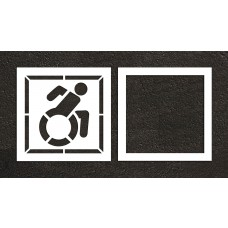 "39"" NY Accessible ADA Stencil, 2-part"