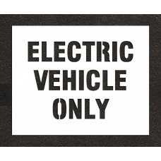 4-inch ELECTRIC VEHICLE ONLY Paint Stencil