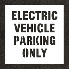 "4"" ELECTRIC VEHICLE PARKING ONLY Stencil"