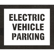 "4"" ELECTRIC VEHICLE PARKING Stencil"