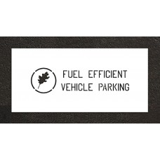 "4"" Fuel Efficient Wording /w Graphic Stencil"