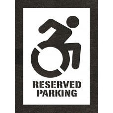 "40"" NY Accessible Reserved Parking Stencil"