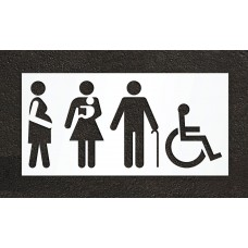 "42"" Disabled Parking Symbol Stencil"