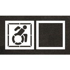 "42"" NY Accessible ADA Stencil, 2-part"