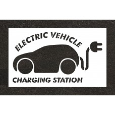 "48"" Electric Car Charging Station Stencil"