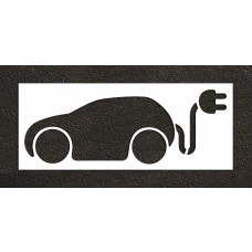 "48"" Electric Car Charging Station no text Stencil"