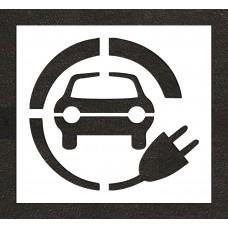 "48"" Electric Vehicle Charging Station Car w/ Plug Stencil"