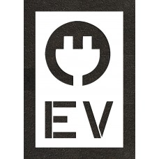 "48"" Electric Vehicle Charging Station Electric Vehicle with Plug Stencil"