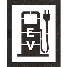 "48"" Electric Vehicle Charging Station Plug Stencil"