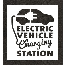 "48"" Electric Vehicle Charging Station with Graphic Stencil"