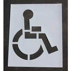 """Pavement Stencils -  48 inch - HANDICAP - ADA Stencil - 48"""" x 41"""""""