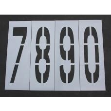 """Pavement Stencils - 48 inch - NUMBER KIT STENCIL SET - (12 Piece) - 48"""" x 12"""""""