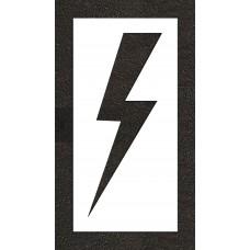 "48"" Lightening Bolt - Electric Car Parking Stencil"