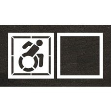 "48"" NY Accessible ADA Stencil, 2-part"