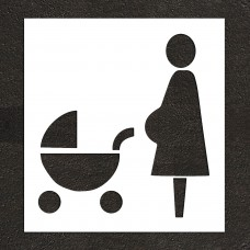 "48"" Reserved Expectant Mothers Symbol Stencil"