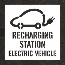 "48"" Recharging Station, Electric Vehicle with Graphic Stencil"