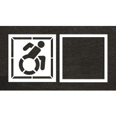 "56"" NY Accessible ADA Stencil, 2-part"