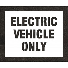 "6"" ELECTRIC VEHICLE ONLY Stencil"