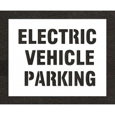 "6"" ELECTRIC VEHICLE PARKING Stencil"