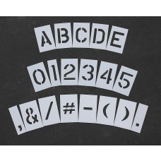 "Curb & Median Stencils - 6 inch MEGA ALPHA/NUM SET - (64 Piece) - 6"" x 4"""