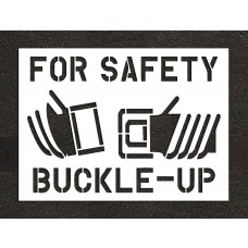 "66"" Buckle Up For Safety Stencil"