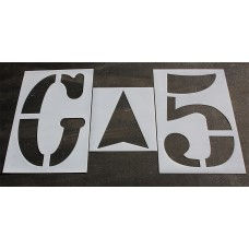 """Athletic Marking - 72 inch - FOOTBALL FIELD NUMBER Stencils - (8 Piece) - 72"""" x 40"""""""