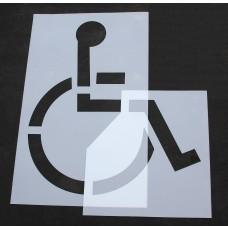 """Pavement Stencils -  72 inch - HANDICAP - ADA Stencil - (2 Piece) - 72"""" x 78"""""""