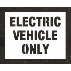 "8"" ELECTRIC VEHICLE ONLY Stencil"
