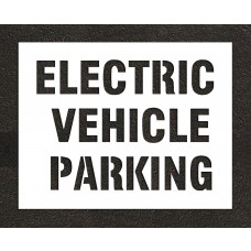 "8"" ELECTRIC VEHICLE PARKING Stencil"