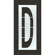 108 Inch - Airport FAA Letter D Stencil